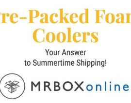 Summertime Throwback: Pre-packed foam coolers for summer shipping