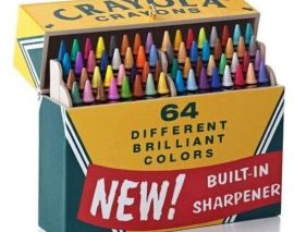 The back-to-school box:  Crayola Crayons