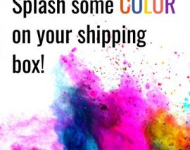 Brand your shipping box with color!